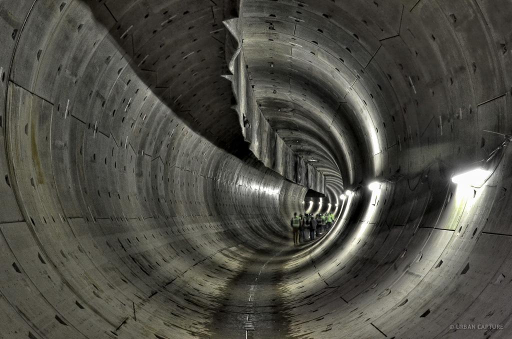 Underground Tunnel North-Southline, Amsterdam, The Netherlands ...