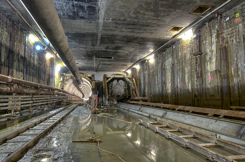 Vijzelgracht Metro Station Construction Pit Amsterdam
