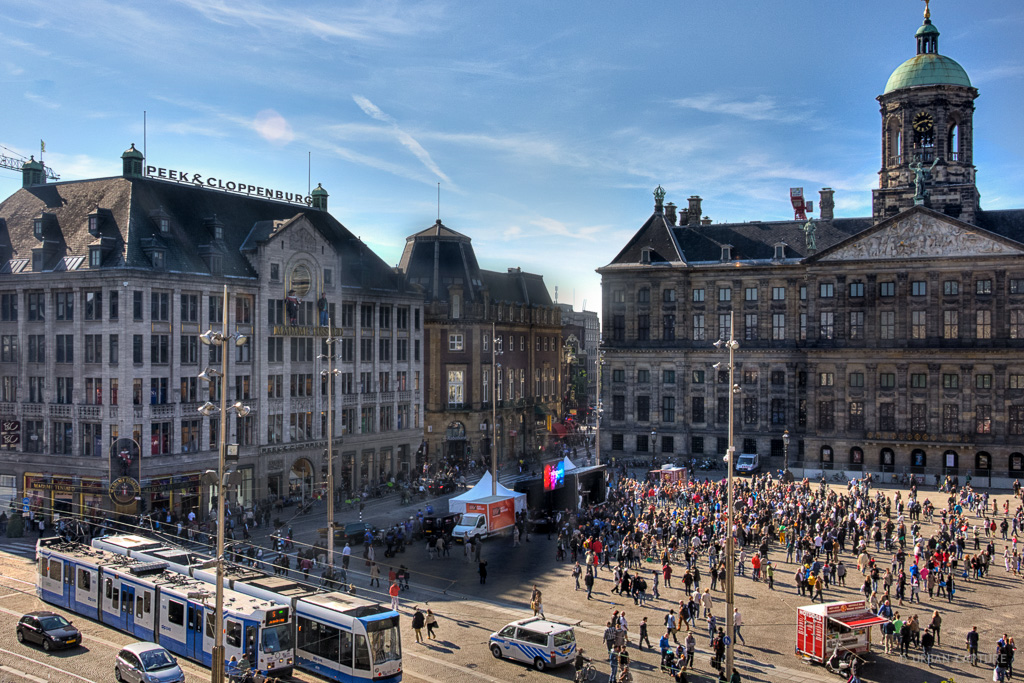 Dam Square Amsterdam The Netherlands Urban Capture