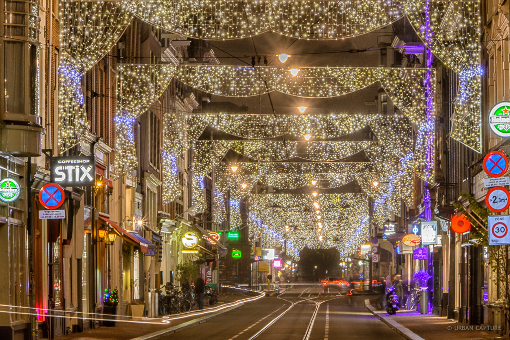 Holiday Season Lighting Utrechtsestraat Amsterdam The