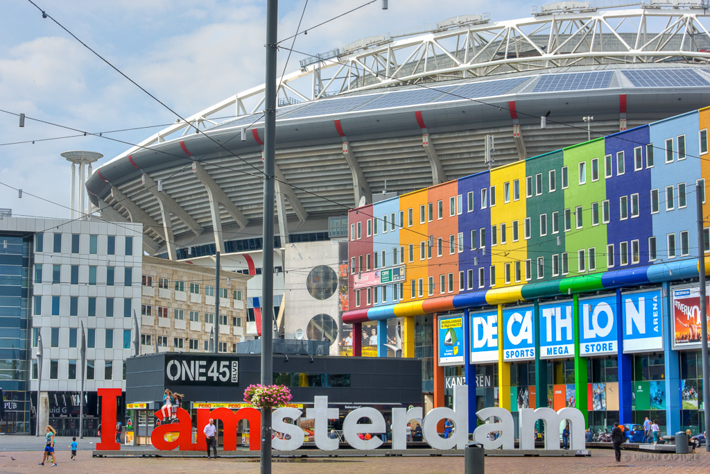 I Amsterdam Sign Arena Boulevard Amsterdam Zuidoost The