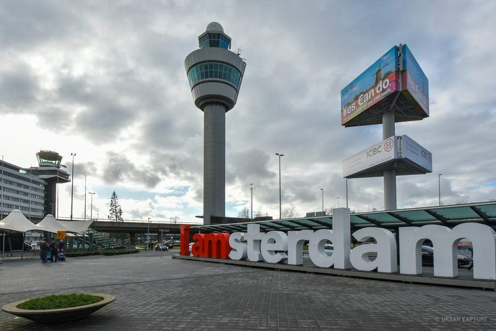 i amsterdam sign, schiphol airport, amsterdam, the netherlands