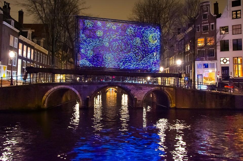 Starry Night, Light Festival, Leidsegracht, Amsterdam, The Netherlands