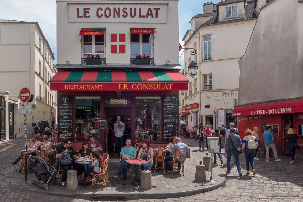 Restaurant Le Consulat Montmartre Paris France Urban Capture Travel Photography